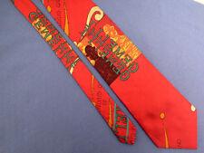 "Men's Moschino Beautiful Red Silk Classic Tie "" GEMMELI "" 19487"
