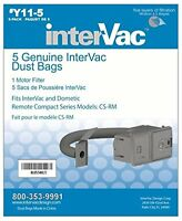 Y11-5 Genuine Intervac Vacuum Cleaner Dust Bags For Cs & Rm Models, New, Free Sh on sale
