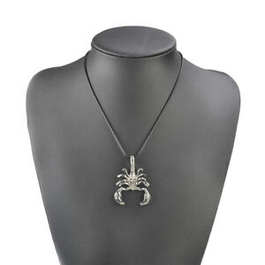 Vintage Men Scorpion Leather Rope Pendant Neck Chain Necklace Jewelry Accessory