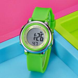 OHSEN-Children-Boys-Girls-Green-Date-12-Hour-Light-Digit-Quartz-Wrist-Watch-Gift
