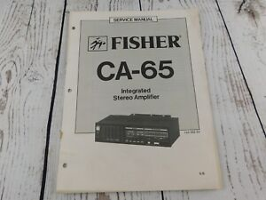 FISHER-CA-65-INTEGRATED-STEREO-AMPLIFIER-SERVICE-MANUAL-w-wiring-diagram