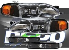 95-96 Camry BLACK Headlights + Corner + Bumper Lights
