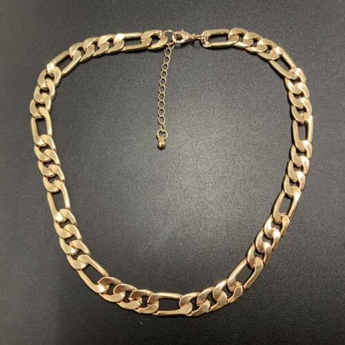 Gold Chunky Link Curb Cuban Chain T Bar Bracelet Necklace Missoma Zara Style