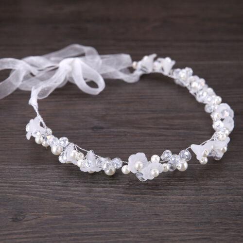 Elegant Crystal Bedas Resin Flower Crown Tiara Hair Band Headband Hair Accessory