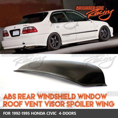 MADE FOR 92-95 HONDA CIVIC 4DR 1PC REAR WINDOW SPOILER SUN GUARD SMOKED VISOR