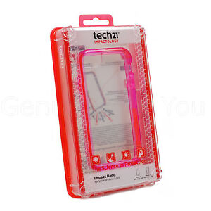 buy popular fc797 068db Details about Genuine Tech21 Impact Band Bumper Case Frame For Apple iPhone  5S/5/SE - Pink