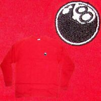 8 Ball - Embroidered Logo - Long Sleeve - Skateboard Shirt - Red - Xl -