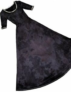 f6496c22c9efc FABULOUS NEW XS Lularoe TIE DYE Black ANA Maxi Dress Unicorn NWOT ...