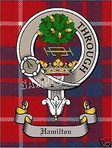 SCOTTISH CLAN BADGE HAMILTON CANVAS ART PRINT SCOTLAND