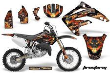 AMR Racing Honda CR85R Graphic Kit Decal Sticker MX Wrap 2003-2007 FIRESTORM BLK
