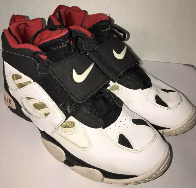 28991f7fe2 Nike Air Diamond Turf 2 II Deion Sanders 49ers 487658-070 Wht/Blk ...