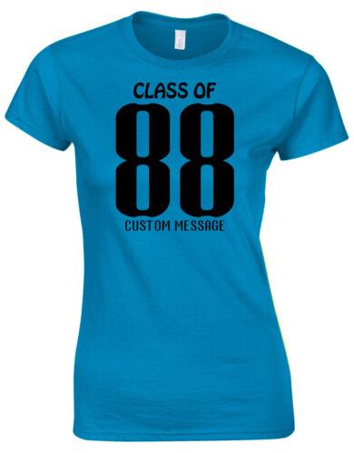Class Of XX Team Shirt Custom Printed Personalised Ladies Tshirt Tee Top AG45