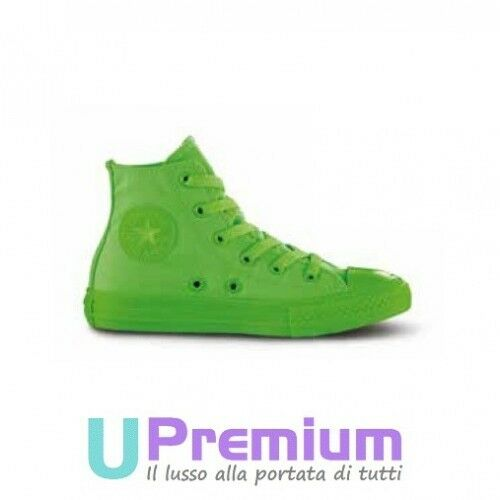 Converse All Star Hi Canvas Monochrome Vert Fluo Geko 2018 ORIGINALI ® ITALIA 2