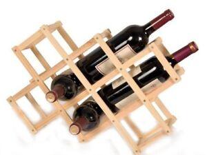 Cantinetta scaffale portabottiglie vino in legno chiaro 10 bottiglie espandibile ebay - Scaffale portabottiglie ...