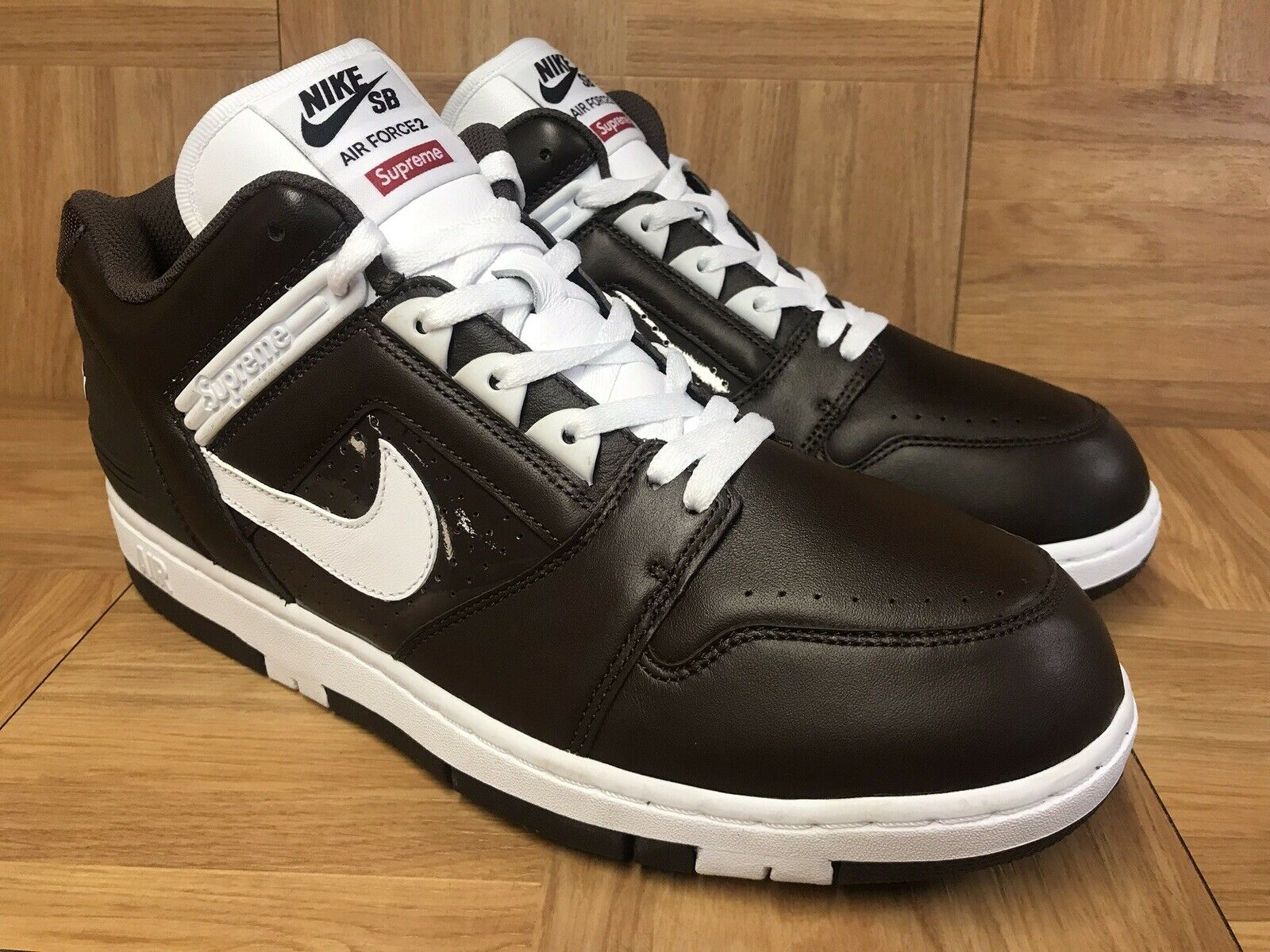 premium selection 8324a 88110 RARE Nike SB SB SB Air Force 2 Low SUPREME World Famous Baroque Brown 13  AA0871