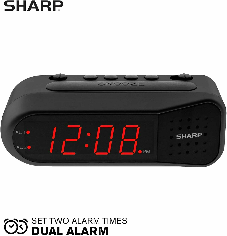 Sharp Blue Led Digital Electric Alarm Clock Timer Snooze Spc106 For Sale Online Ebay