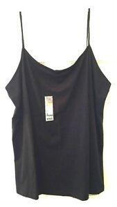 541464be511fe Womens Camisole Top Black Faded Glory Soft Stretch Cotton Spandex ...