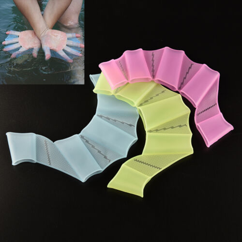 New Swim Gear Fins Hand Webbed Flippers Silicone Training Paddle Dive Glove Y1