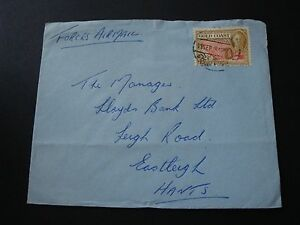Gold-Coast-1949-Commercially-Used-Force-Air-Mail-Cover-2-5c-Rate-To-England-GB