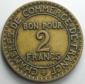1922 france bon pour 2 francs ebay. Black Bedroom Furniture Sets. Home Design Ideas