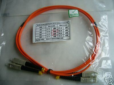 SC to SC fiber patch cord jumper MMF cable multimode 62.5//125 duplex 5m length