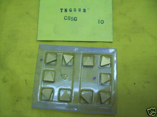 10 TNG 222 CARBIDE INSERTS indexable cutting mill tool lathe milling cutter