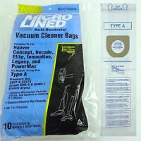 Hoover A Upright Vacuum Bags Microlined Bissell Style 2 Kenmore 50378 (10pk)