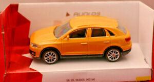 silber Audi Q3 City Modellauto 1:43 3+// OVP