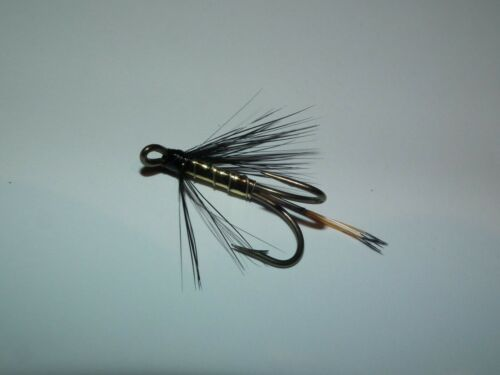 salmon//seatrout ........gold pennell mustad bronze double size 8