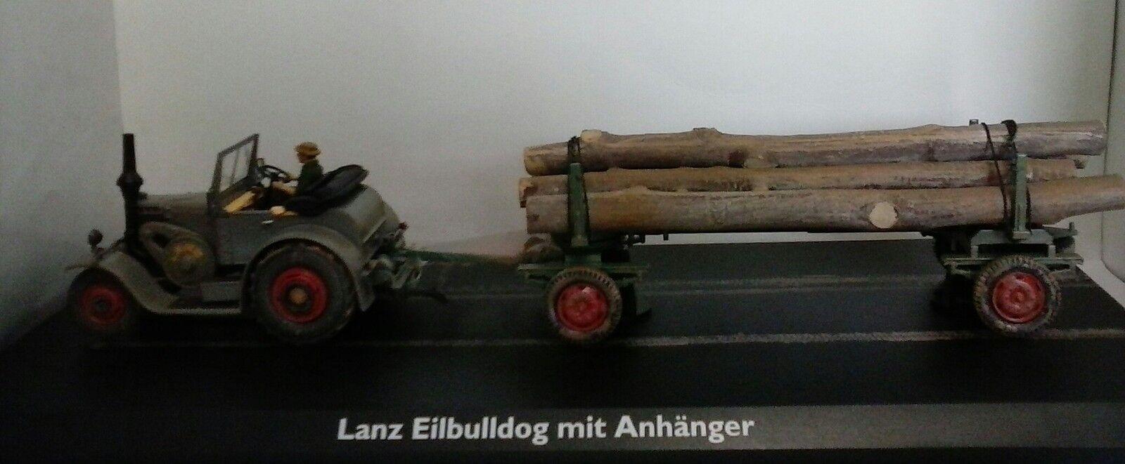 SCHUCO 1 43 43 43 DIE CAST TRATTORE LANZ EILBULLDOG MIT ANHANGER  ART 02866 28e30d