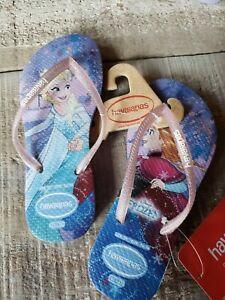 Disney Store Frozen blue flip flops Sandal for kids Size 13//1
