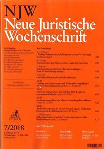 NJW-7-2018-Neue-Juristische-Wochenschrift-wie-neu