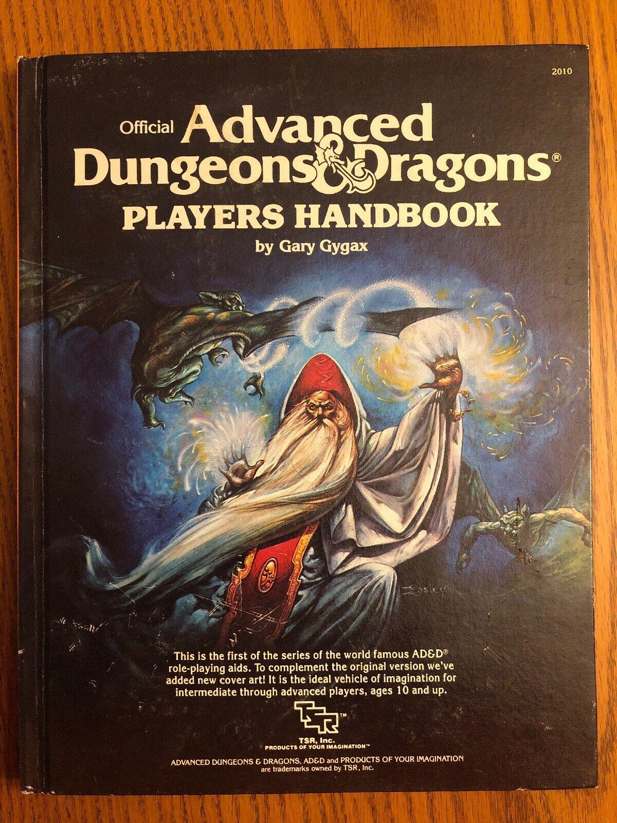 Alto Grado  avanzada Dungeons & Dragons Jugarers Handbook 1st edición 10th impresión