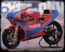 Ducati Tt1 A4 Photo Print Motorbike Vintage Aged