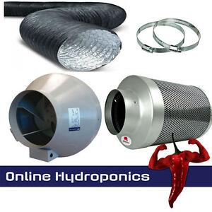 "5 /"" 125mm Rhino hobby filtre rvk fan 5m Kit conduit Clips combi hydroponics"