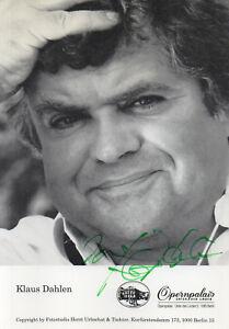 Autogramm - Klaus Dahlen