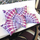 5 Pcs. Set Of 16X16 Indian Cotton Cushion Cover Handmade Sofa Pillow Cover Throw