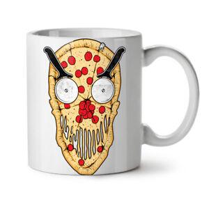 Pizza Face Slice Funny NEW White Tea Coffee Mug 11 oz | Wellcoda