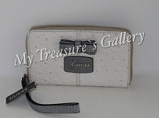 NEW Guess Hesperia SLG Small Zip Around Wallet Checkbook Clutch White Multi NWT