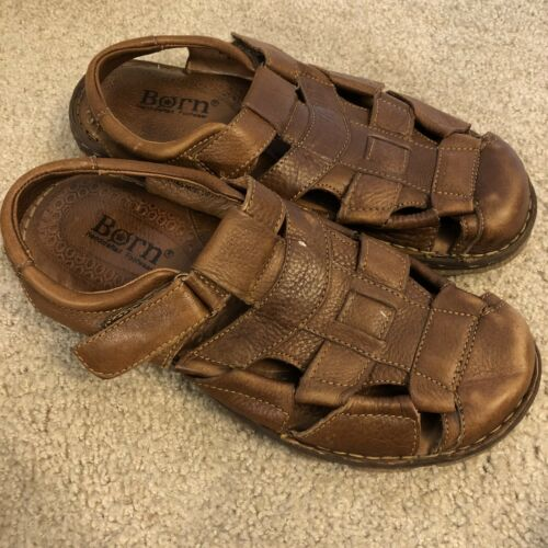 Born Mens Size 11 Brown Leather Fisherman Sandals