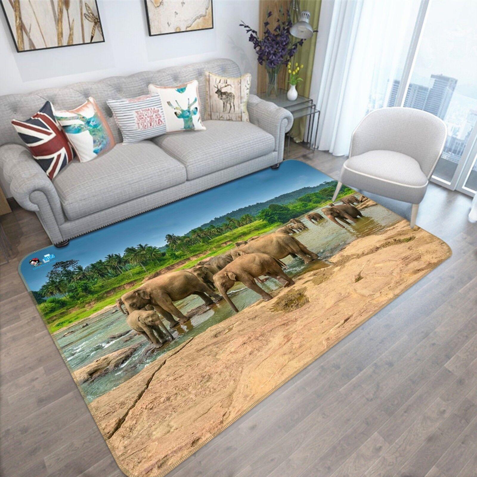 3d 636 elefanti antiscivolo TAPPETO TAPPETINO BAGAGLIAIO Qualità Tappeto Elegante De