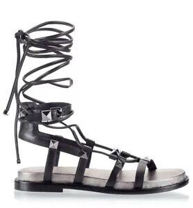 Ash-Magnum-Black-Studded-Gladiator-Sandals-RRP-240-Size4