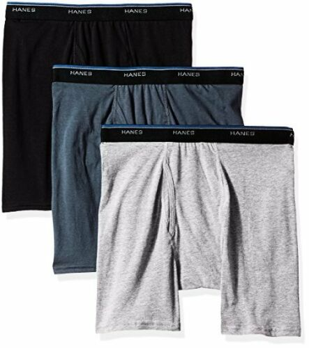 Select SZ//Color. Hanes Mens 3-Pack ComfortBlend Boxer Briefs L