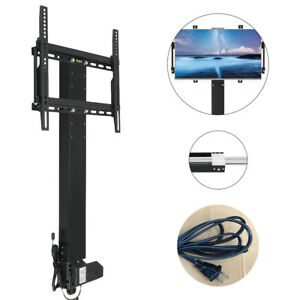 Motorized-TV-Mount-Lift-for-32-034-65-034-TVs-Height-Adjustable-w-Remote-Controller