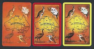 Australia Map 785.Details About 920 785 Vintage Swap Card Mint Set 3 Map Of Australia With Animals