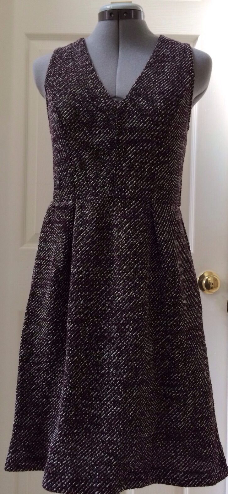 Neuf avec étiquettes MADEWELL de J. CREW terrasse grand Bourgogne robe Größe S