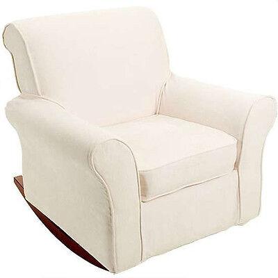 Slipcovered Rocking Chair - Rocker AND SLIPCOVER Beige Cream Slip Cover Nursery