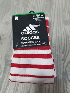 0135b5284665 Adidas Team Speed Soccer Socks White red Formotion Sz S 13c-4y New ...