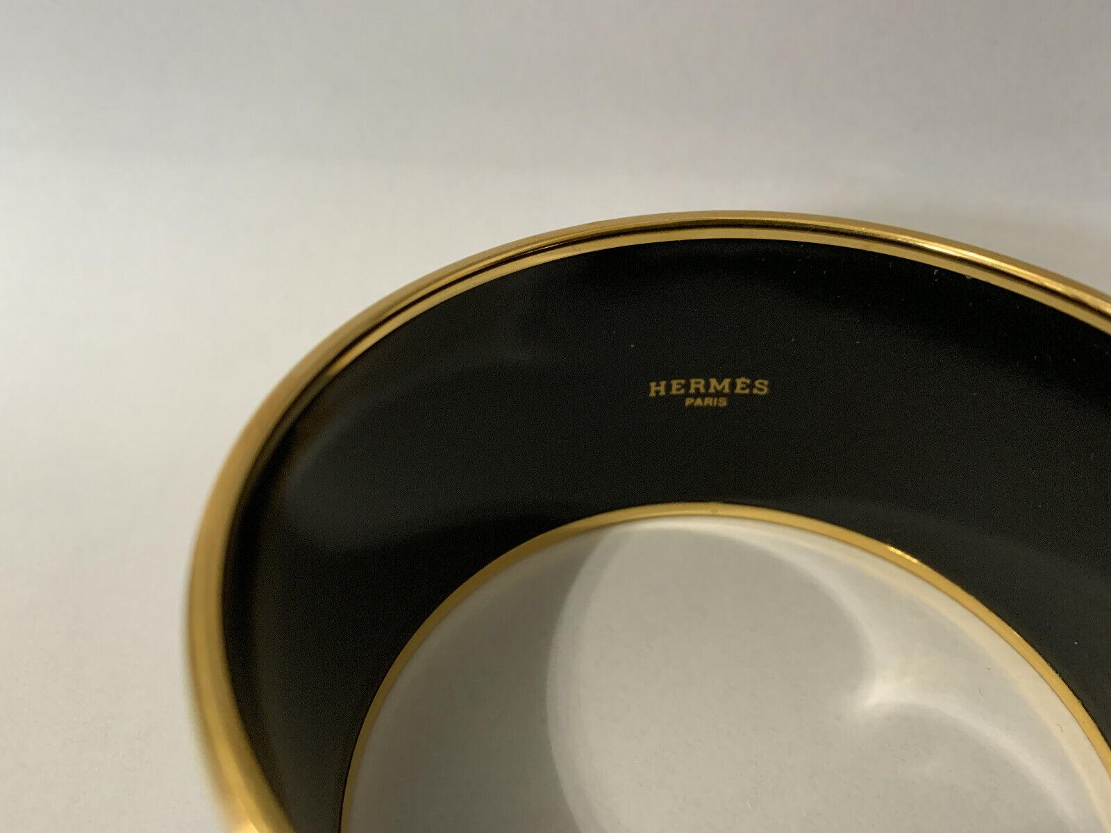 """Vintage Hermes """"Brazil"""" Wide Bangel Bracelet - image 2"""