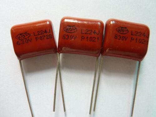 20pcs 630V 224 J 0.22uf 220nf 220000pf P15 CBB21 CBB metal film capacitor